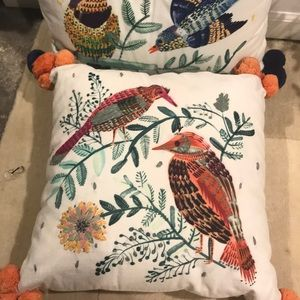 Hand stitched Bird Throw Pillows
